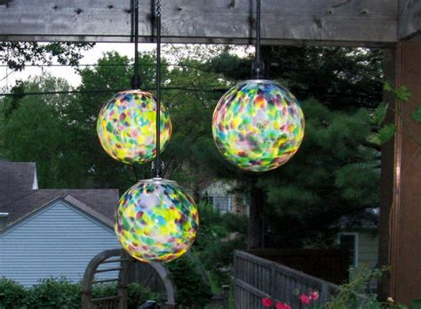 garden gazing balls by nightorbs nightorbs