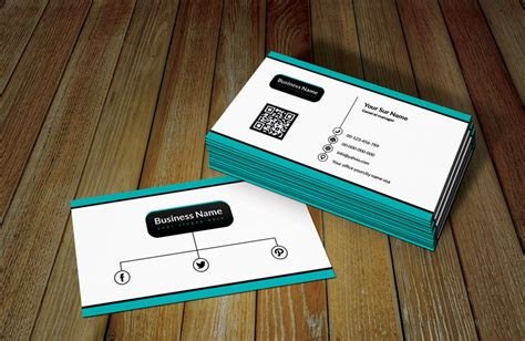 white ratro business card template  qr code