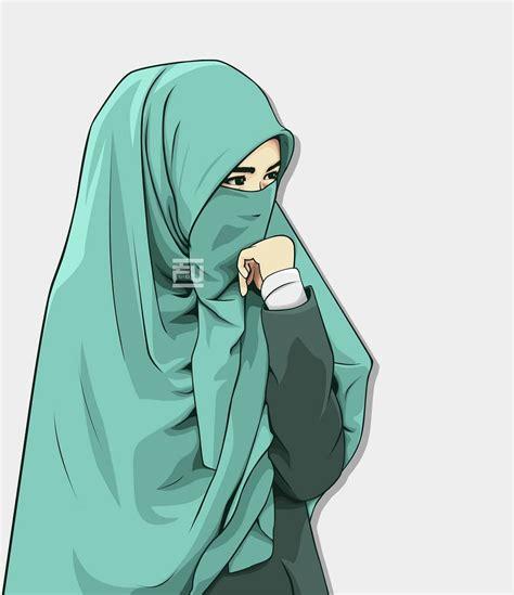 kumpulan kartun anime muslimah bercadar