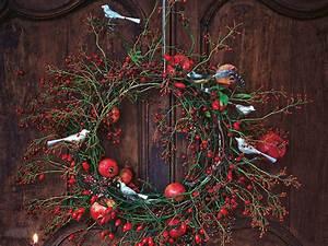 Dekorationsvorschläge Für Weihnachten : weihnachtsdeko einen t rkranz f r weihnachten basteln ~ Lizthompson.info Haus und Dekorationen