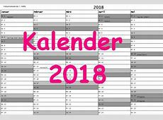 Kalender 2018 Download Freewarede