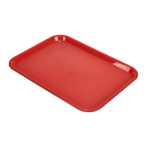 genware fast food tray red small tableware food