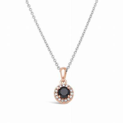 Gold Nwj Diamond Halo Pendant 9ct Rose