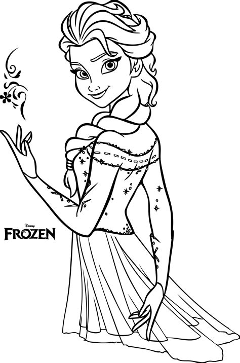 Coloring Elsa by Beautiful Elsa Coloring Pages Legends Of The