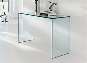 Schreibtisch Aus Glas : extravaganter schreibtisch aus durchsichtigem glas originelle ideen ~ Markanthonyermac.com Haus und Dekorationen