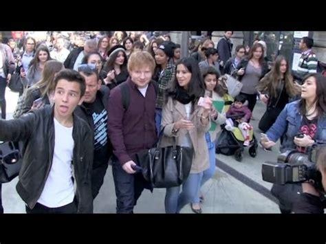 ed sheeran fanshop exclusive ed sheeran despite getting crushed by fans in
