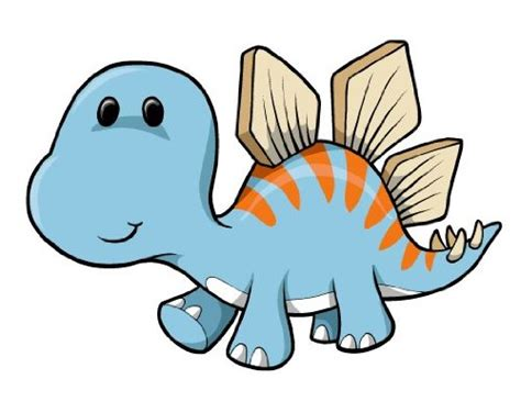 Cartoon Baby Blue Dinosaur