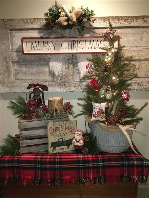 unique farmhouse christmas decor ideas  pinterest