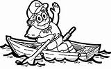 Boat Row Clipart Coloring Clip Cliparts Cartoon Rowing Cub Library Outline Rowboat Pages Canoe Contents Template Pinewood Derby Printable Fishing sketch template