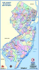 New Jersey County Map NJ