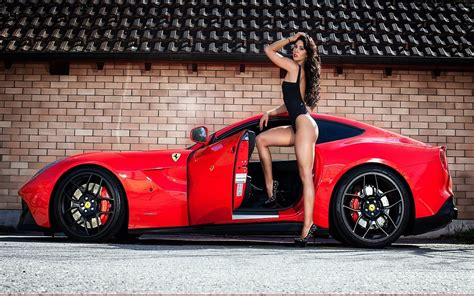 wallpaper model long hair arms  women  cars