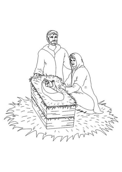 Kerst Kribbe Kleurplaat by Kleurplaat Kerst Kleurplaten Jesus In De Kribbe Met Josef