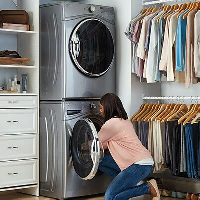 Closet Size For Stackable Washer And Dryer by Washers And Dryers At Great Low Prices The Home Depot