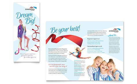 gymnastics academy brochure template design