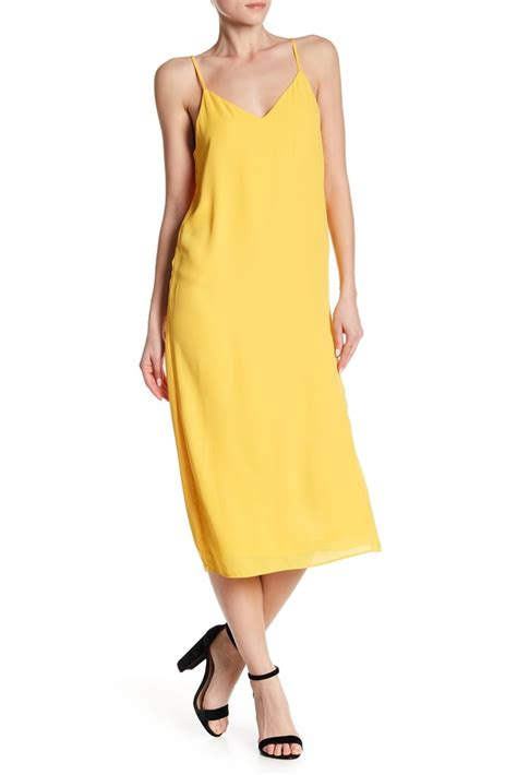 Atd Cahyanur Dress nsr v neck slip dress miller yellow slip dress at