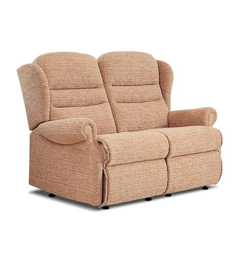 Small 2 Seater Settees by Ashford Small Fabric Fixed 2 Seater Settee Care100