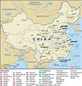 China province map - Provinces of China map (Eastern Asia ...