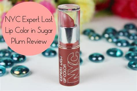 nyc expert lip color sugar plum review swatches