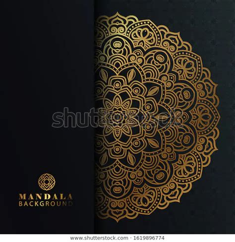 luxury ornamental mandala design background gold stock