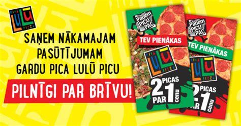 Saņem Picu par brīvu nākamajam pasūtījumam! | Pica Lulū
