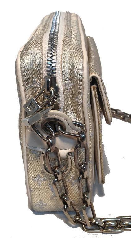 limited edition louis vuitton gold mckenna shine monogram party shoulder bag  sale  stdibs
