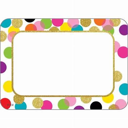 Labels Tags Confetti Classroom