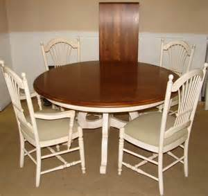 ethan allen country white dining room table and