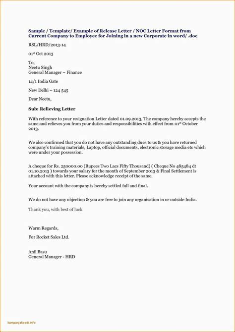 noc letter format  visa  company