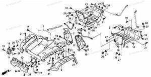Honda Atv 2001 Oem Parts Diagram For Front Fender