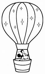 Coloring Air Balloons Printable Balloon Ballon sketch template