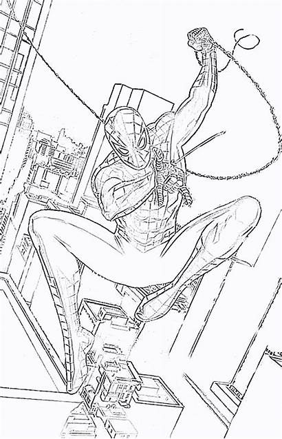 Coloring Pages Spiderman Spider Printable Amazing