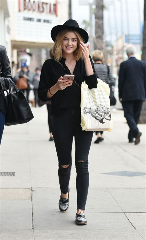 Lucy Hale - Shopping at Barnes and Noble and Urban ...