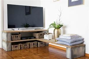 Fabriquer Meuble Bois Facile : fabriquer un meuble tv instructions et mod les diy ~ Nature-et-papiers.com Idées de Décoration
