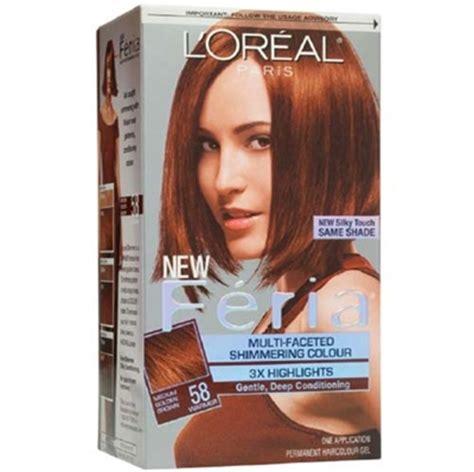 l oreal feria multi faceted shimmering colour 58 medium golden brown 1 application