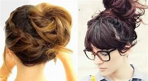 Coiffure Simple Femme : 15 magnifiques chignons pour cheveux mi longs coiffure simple et facile ~ Melissatoandfro.com Idées de Décoration