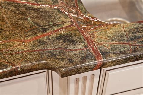 rainforest green granite kitchen eclectic dc metro