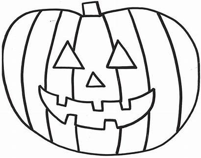 Pumpkin Coloring Pages Halloween Blank Sheet Printable