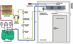 Cold Storage Refrigeration System Piping Diagram