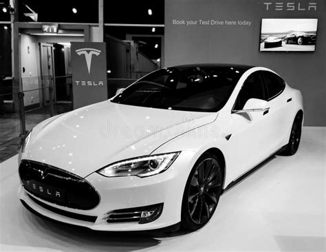 Tesla Model S Premium Electric Car Editorial Photo