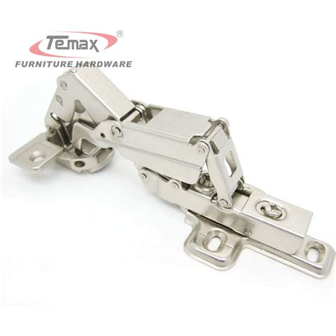 soft hinges for kitchen cabinets half overlay 165 degree hydraulic brass buffer satin 9364