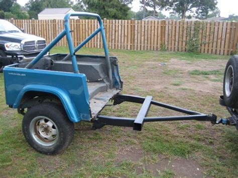 jeep utility trailer 1991 jeep wrangler utility trailer for sale in new orleans