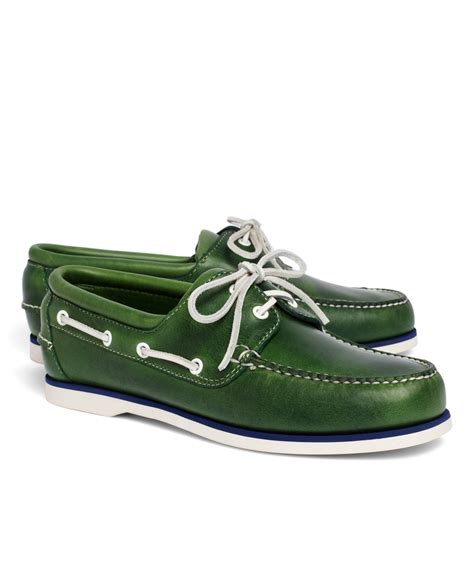 Brooks Brothers Boat Shoes by Lyst Brooks Brothers Midsole Boat Shoes In Green For Men