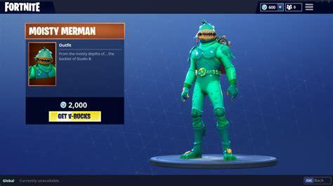 fortnite moisty merman added  item shop