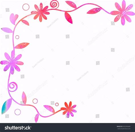 floral page border letter examples designs  clipart