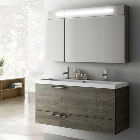 Modern Bathroom Vanities And Cabinets by Modern 47 Inch Bathroom Vanity Set With Medicine Cabinet