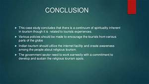 RELIGIOUS TOURISM : ISSUES SOLUTIONS AND CASE STUDY