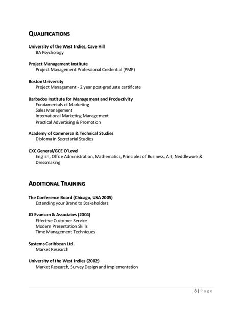 Detailed Curriculum Vitae by Detailed Curriculum Vitae Colleen Inniss Gittens
