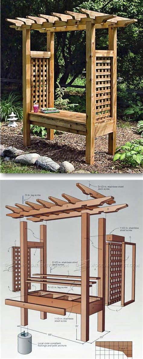 woodworking projects  beginners arbor bench outdoor