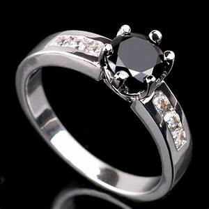 fashiong jewelry engagement ring cute small round cut With onyx wedding ring women