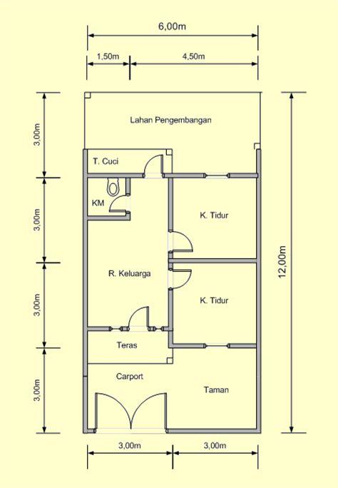 contoh denah rumah sederhana  inspirasi desain
